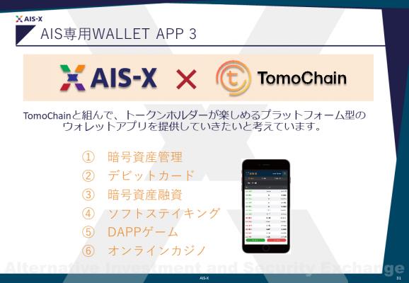 AIS-X専用ウォレットアプリ
