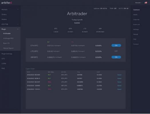 arbitexのアービトラージ