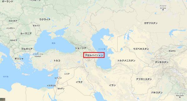 アゼルバイジャンの位置