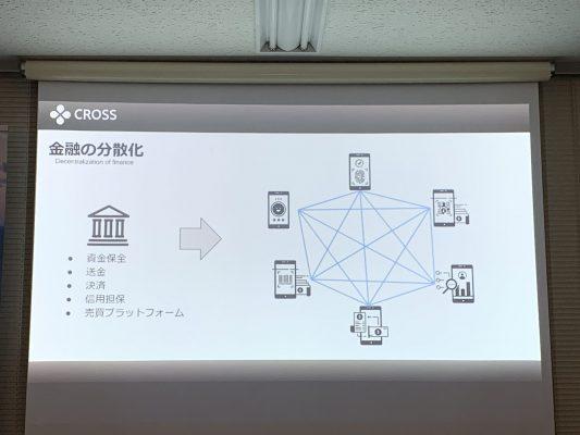 CROSSは金融を分散化させる