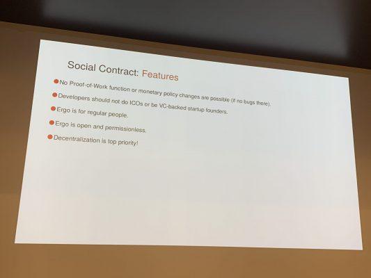 Ergoプラットフォームのソーシャルコントラクト