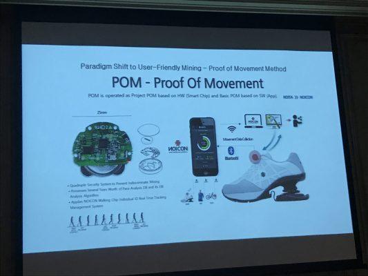 NOICONではProof of Movementによりユーザにトークンを付与する