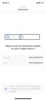 Ledger Nano Xの操作指示
