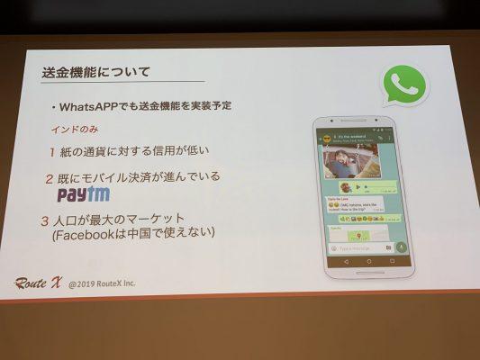 WhatsAppメッセンジャーへの送金機能の実装