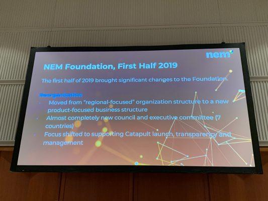 NEM財団が2019年前半で取り組んだ内容