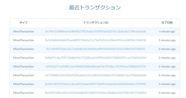 QURASテストネットのブロックエクスプローラ
